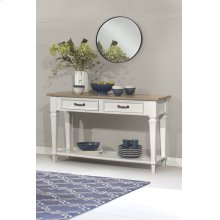 Rockport Sideboard - White With Driftwood Top