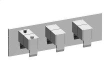 Qubic M-Series Valve Horizontal Trim with Three Handles