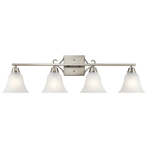 Bixler 4 Light Vanity Light with LED Bulbs Brushed Nickel