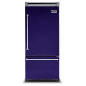 "Cobalt Blue 36"" Bottom-Mount Refrigerator/Freezer - VIBB (Right Door Hinge)"