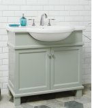 White NOUVEAU 34-in Single-Basin Vanity Cabinet with Lavatory Product Image