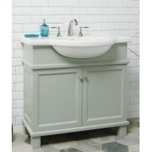 White NOUVEAU 34-in Single-Basin Vanity Cabinet with Lavatory