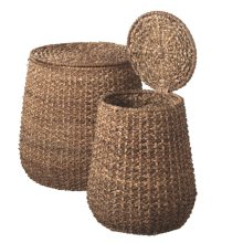 Braided Woven Storage Side Table set/2.