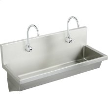 """Elkay Stainless Steel 48"""" x 20"""" x 8"""", Wall Hung Multiple Station Hand Wash Sink Kit"""
