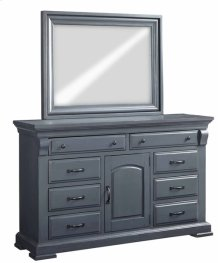 Door Dresser \u0026 Mirror - Slate Finish
