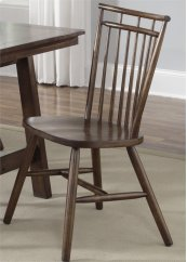 Spindle Back Side Chair - Tobacco