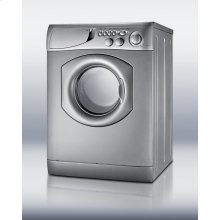 Front-loading washer/dryer in platinum finish