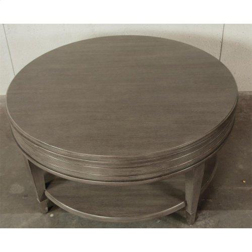 Dara Two - Round Coffee Table - Gray Wash Finish