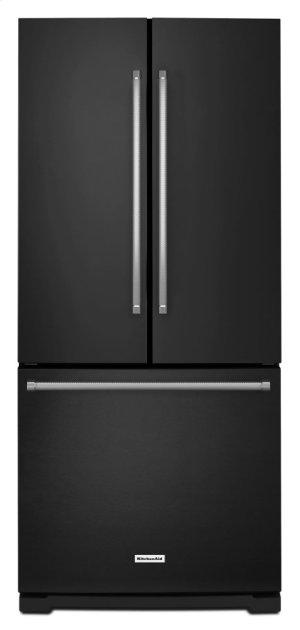 20 cu. Ft. 30-Inch Width Standard Depth French Door Refrigerator with Interior Dispense - Black