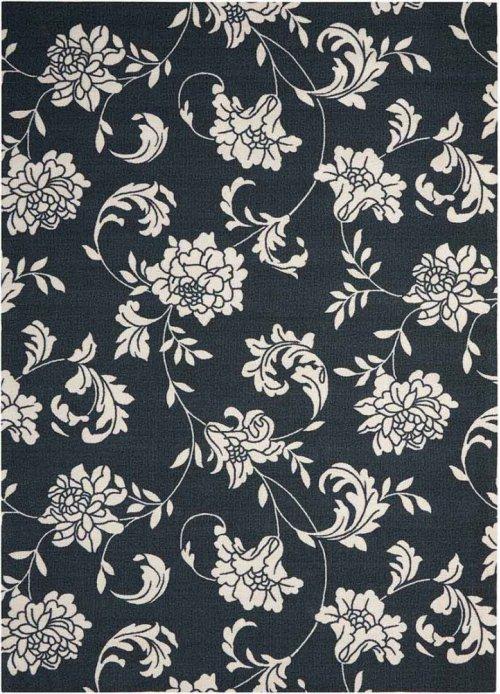 Home & Garden Rs014 Blk Rectangle Rug 5'3'' X 7'5''