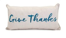 Harvest Embroidered Give Thanks Pillow