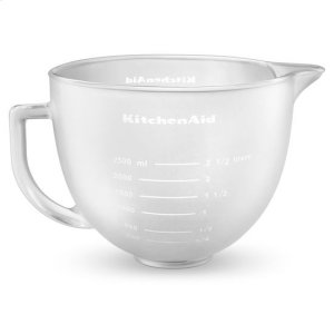 KitchenaidKitchenAid® 5-Qt. Tilt-Head Frosted Glass Bowl with Measurement Markings & Lid - Other