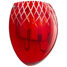 2LT RED ETCHED SCONCE -CH