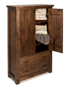 2 Door/2 Drawer Clothing Armoire