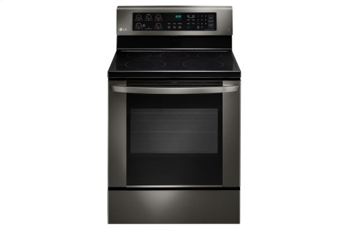 LG Black Stainless Steel Series 6.3 cu. ft. Single Oven Electric Range with EasyClean®