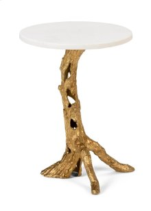 Woody Side Table - Gold