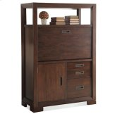 Riata Computer Armoire Warm Walnut finish