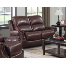 EM1193 Collection - Dual Reclining Loveseat with Power Headrest USB  Cognac Brown