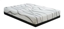 "Emerald Home Cool Jewel Mattress Starlight II 12""gel- Memory Foam Twin White-black W/ Grey Ribbons Es5212tm"