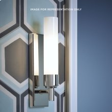 """Main Line 3-1/8"""" X 10-1/4"""" X 3-3/4"""" Sconce In Polished Nickel"""