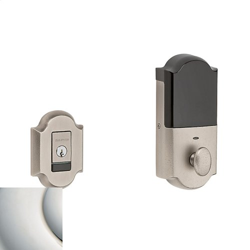 Polished Nickel with Lifetime Finish Evolved Arched Deadbolt