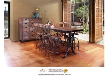"""24-30"""" Adjustable Height barstool, wooden seat and back-rest**"""