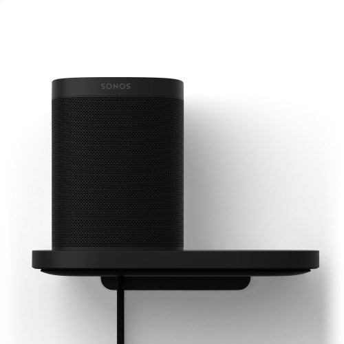 Black- Create a designated space for your speaker with this Shelf, designed and made by Sonos.
