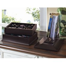 Lyon Beveled Top Jewelry Box
