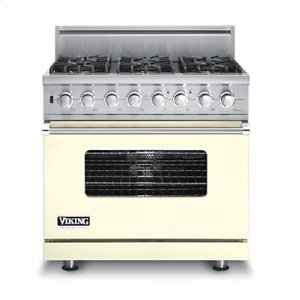 "36"" Custom Sealed Burner Dual Fuel Range, Natural Gas, No Brass Accent"