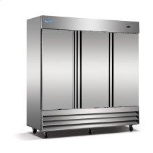 3 Solid Door Stainless Steel Reach-In Freezer