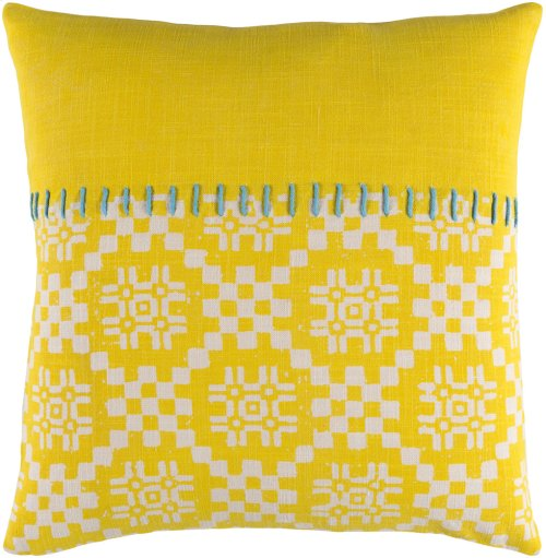 "Delray DEA-003 20"" x 20"" Pillow Shell with Polyester Insert"