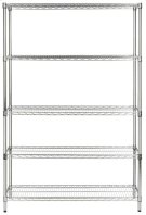 Echo 5 Tier Heavy Duty Chrome Wire Rack (47 In W X 18 In D X 75 In H) - Chrome Plating Product Image