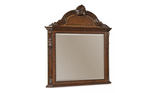 Old World Crowned Landscape Mirror
