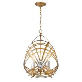 Signet 4 Light Pendant in Royal Gold