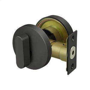 Zinc Modern Low Profile Deadbolt Lock Grade 3 - Oil-rubbed Bronze Product Image