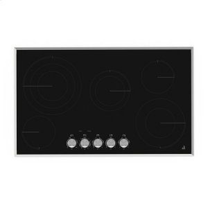 "Jenn-AirJenn-Air® Lustre Stainless 36"" Electric Radiant Cooktop - Stainless Steel"