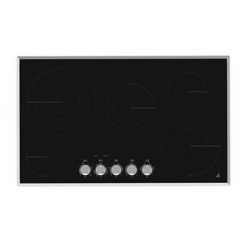 "Jenn-Air® Lustre Stainless 36"" Electric Radiant Cooktop - Stainless Steel"