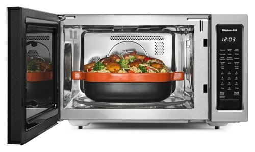 """21 3/4"""" Countertop Convection Microwave Oven with PrintShield Finish - 1000 Watt - Stainless Steel"""