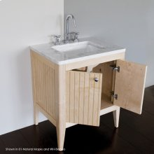 """Stone countertop for vanity 3098 with a cut-out for lavatory 5485. 00 - zero faucet holes 01 - one faucet hole 03 - 3 faucet holes in 8"""" spread"""