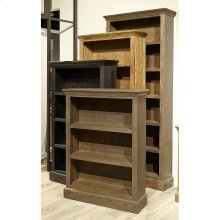 "84"" Glazed Oak Bookcase"