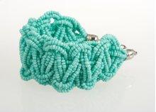 BTQ Light Teal Woven Bead Bracelet