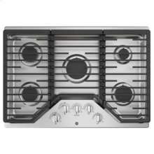 "30"" Built-In Gas Deep Recessed Edge-to-Edge Stainless Steel Cooktop"
