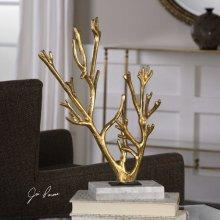 Golden Coral Sculpture