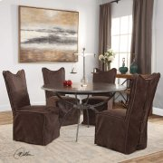 Delroy, Armless Chair, Chocolate, 2 Product Image
