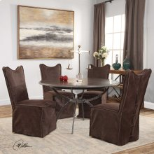 Delroy, Armless Chair, Chocolate, 2