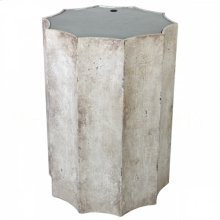Emmeline Distressed White Side Table