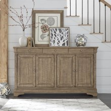 4 Door Accent Cabinet - Brown