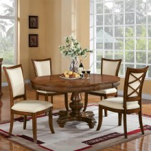 Windward Bay - Round Dining Table Top - Warm Rum Finish
