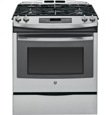 "GE® 30"" Slide-In Front Control Gas Range Display Model"