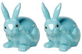 Scratching Garden Rabbit - Set of 2